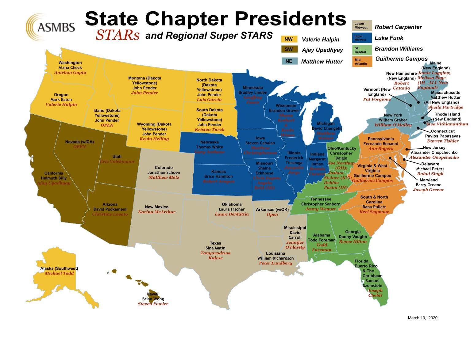 State Chapter Map
